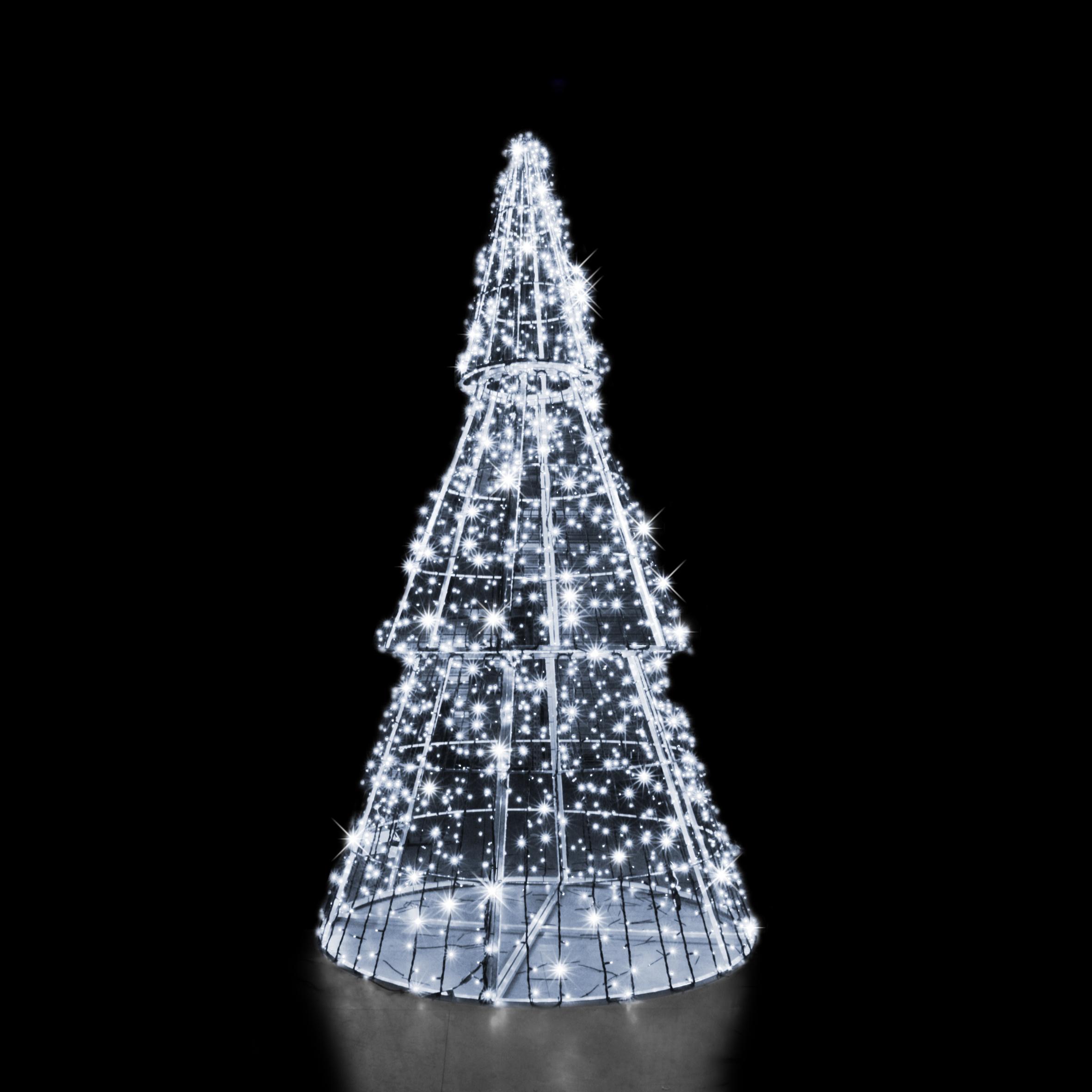 3d pine tree h4 5m x Ø2 25m 2400 led the christmas lighting